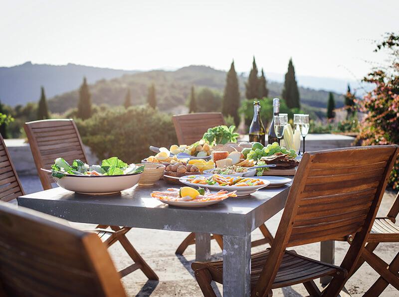 A healthy and balanced Mediterranean diet Menu