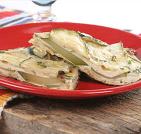 Spanish omelet with zucchini