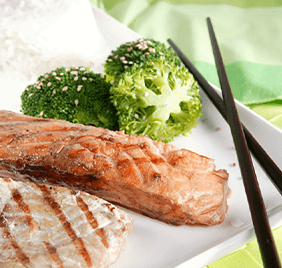 Teriyaki of oily lean fish